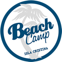 logotipo beach camp isla cristina