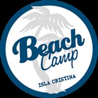 logotipo beach camp isla cristina
